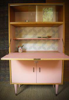Vintage secretary desk renovated and revamped Octave Painting Furniture Diy, Furniture Diy, Upcycled Furniture, Ikea Girls Room, Furniture Makeover, Classy Furniture, Furniture Hacks, Furniture Restoration, Vintage Furniture