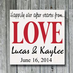 Personalized Wedding Sign,Happily Ever After,LOVE,Anniversary Gift,Engagement Gift,Bridal Shower,Important Date,Love Story Custom Wood Sign