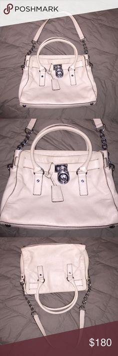 Michael Kors bag This bag is off white and so cute! There is some wear but very subtle and kept up really well. Michael Kors Bags