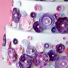 Sugar Rosettes Wedding Cake - Wedding Cake
