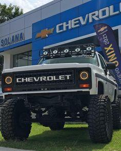 Chevrolet Trucks, Diesel Trucks, Chevy Trucks, Chevy Blazer K5, S10 Blazer, Jacked Up Trucks, Cool Trucks, Biggest Truck, Classic Pickup Trucks