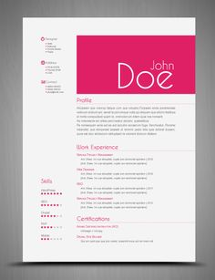 Maybe I should do this with my resume to help it stand out, only not in pink...