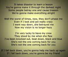 "Rancid - ""Fall back down"" Punk Rock Lyrics, Everything Will Be Alright, Way Down, Dark Night, Make It Through, Lyric Quotes, Betrayal, Music Is Life, Good People"