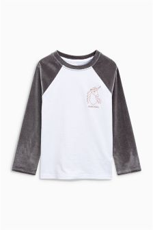 Girls Next Grey/White Velvet Raglan Unicorn Long Sleeve T-Shirt link} Uv Shirt, White Velvet, Little Girl Fashion, Latest Fashion For Women, Grey And White, Tunic, Sweatshirts, Tees, Long Sleeve