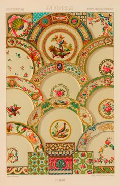 Vintage plates provide lots of opportunity to pull colour and create a greater visual effect.