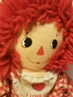 VINTAGE KNICKERBOCKER BEDTIME RAGGEDY ANN STUFFED ANIMAL PLUSH TOY DOLL OLD