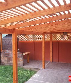 Backyard Pergola, Backyard Landscaping, Landscape Curbing, Pergola Designs, Curb Appeal, Landscape Design, My House, Outdoor Living, Outdoor Structures