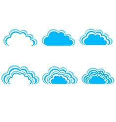 Sky clouds vector 4253573 - by ratandesignz on VectorStock®