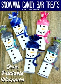 Printable pattern in Documents as Snowman-Free-Printable-Candy-Bar-Wrapper-Template