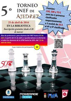 5º Torneo INEF de ajedrez. 25 de abril