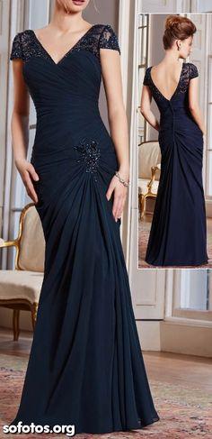 Vestidos de festa azul de luxo 2015