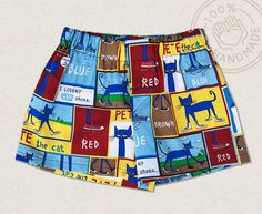 Potty Training can be a challenge. Potty Training Charts could be of some help for both Potty Training Boys or Girls. Our cute Pete the Cat Potty Training Shorts can be a great Incensive to help get the job done. Boys Summer Outfits, Baby Boy Outfits, Kids Outfits, Potty Training Age, Training Tips, Boys Underwear, Cute Toddlers, Toddler Gifts, Boy Toddler