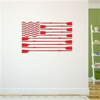 Crew American Flag Removable ChalkTalkGraphix Wall Decal, coolest crew wall stickers