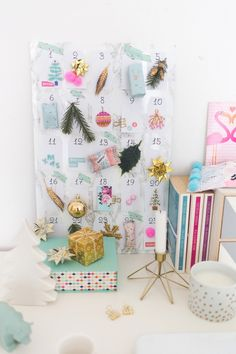 Counting down the days until Christmas with this darling DIY advent calendar.