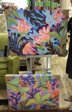 A few more of my paintings in Homegoods! I have originals and prints available on www.lauradrodesigns.com