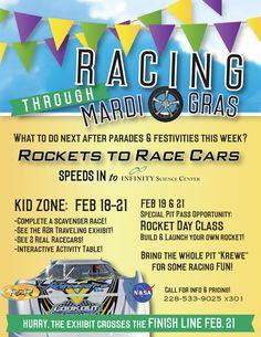 RACING THROUGH MARDI GRAS at INFINITY! Feb. 18-21.