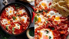 Znáte pokrm Shakshuka [šakšuka]? Původem je ze severní Afriky, ale běžně si ho vaří například i v Izraeli. Považuje se za snídaňové jídlo, ale jak můžete sami vidět, poslouží i jako správně sytá večeře.