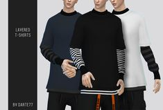 Layered t shirts at image 360 sims 4 updates The Sims 4 Pc, Sims 4 Teen, Sims Four, Sims Cc, Sims 4 Men Clothing, Sims 4 Male Clothes, Male Clothing, Clothing Stores, Sims 4 Mods