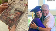 A teen whose life was saved by a firefighter 17 years ago when she was a baby   wanted to make sure he was there for her high school graduation.