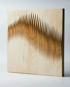 WOODwave paneling by Eliza Mikus and Nóra NémethFinnagora and hg.hu - WoodCave Finnish-Hungarian Student Design Competition - prizeWe wanted to create a surface with a decorative and awareness-raising function, so people can observe it when they pas… Wooden Wall Art, Wooden Walls, Wood Sculpture, Wall Sculptures, Abstract Sculpture, Bronze Sculpture, Strate Design, Karton Design, Deco Cool