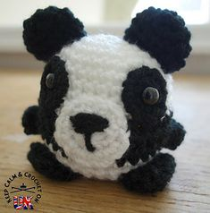 Doodle Zoo character number 5; Peggy the Panda is a great little stash buster! All the Doodle Zoo animals are designed to work up in less than an hour and because they are just the right hand size they become very steal-able so be prepared to make a few! Peggy the Panda would make a cute additional gift for family and friends or an quick addition to a craft stall.