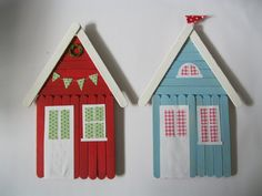 popsicle stick beach houses