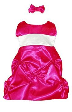 Baby Replica Designer Clothes Fancy Dresses Satin Pucker