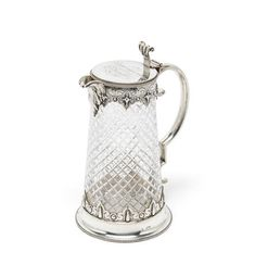 A large Victorian silver-mounted glass jug George Fox, London 1861 Charles Fox, Howard Charles, Glass Jug, Auction, Victorian, London, Silver, London England, Money
