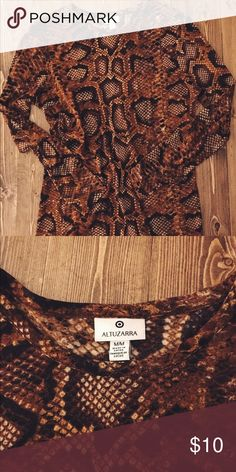 Altuzarra for Target Snake print blouse Beautiful Snake Print top from the Altuzarra/Target collab. No flaws Altuzarra Tops Tees - Long Sleeve