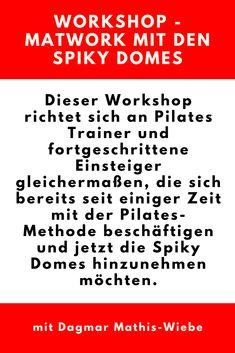 Dieser Workshop richtet sich an Pilates Trainer und fortgeschrittene Einsteiger gleichermaßen, die sich bereits seit einiger Zeit mit der Pilates-Methode beschäftigen und jetzt die Spiky Domes hinzunehmen möchten. (Werbelink/Affiliatelink) #pilatesfitness #pilatesandfriends #pilatesonline #kaltefüße #pilatesübungen #pqm #pilatesfüranfänger #pilatesvideos #pilatesabo #workshop #matwork Workshop, Yoga, Trainer, Fitness, Pilates For Beginners, Cold Feet, Oder, Too Busy, Tips