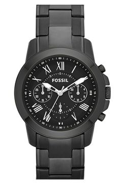 Fossil 'Grant' Chronograph Bracelet Watch, 38mm | Nordstrom