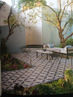 Lovely tiled patio