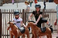Many children have the desire to ride on a real horse. The Horse of My Little Horse can fulfill this desire. The animal-riding toy horse that is characterized by a soft plush body, a sturdy steel frame and an innovative drive system. The materials used, are of high quality.