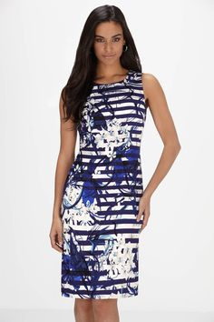 c4b7ca40a9 Ivanka Trump Striped   Floral Print Dress Ivanka Trump
