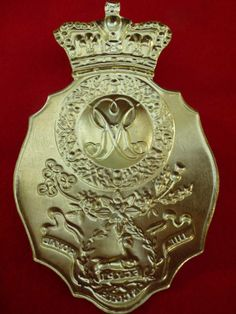 Belgic Shako Plate- 1st (Royal Scots) Regiment of Foot- 1812 (reverse view)