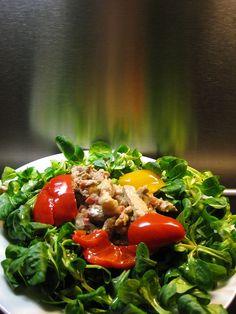 Feldsalat mit Fenchelgeschnetzelten