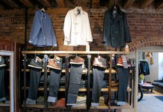 PORTLAND DRY GOODS CO.    Portland Dry Goods is the newest opening in a trio of interconnected (and utterly anomalous) menswear shops in Maine. Without getting rained on, you can plunk down for a To Ki To jacket at Barbour, a custom Oxxford suit at David Wood, and a pair of McNairys at PDG.    237 Commercial St., Portland, ME; portlanddrygoods-pdg.blogspot.com
