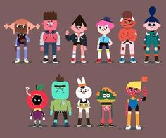 TOCA BOCA characters.  These designs hit that cute/weird note that might appeal to a wide range of ages.