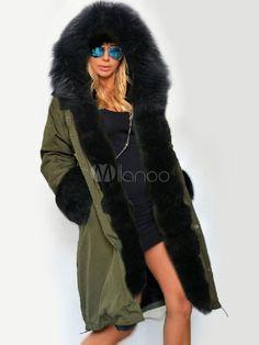66953fd95184a1 Fashion Winter Women Long Coat 2017 Female Autumn Warm Hooded Down Jacket  Soft Thick Cotton Fur Parkas Winter Warm Outwear Coat