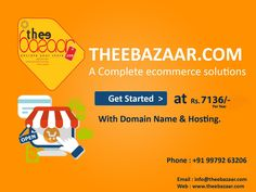 Make your Own Online store  within second only  http://theebazaar.com/ #onlinestore #ecommercestore