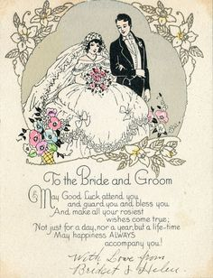 Vintage Wedding Card from the 1940s