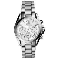 321821739b97a Michael Kors MK6174 Women s Bradshaw Chronograph Bracelet Strap Watch,  Silver at John Lewis   Partners