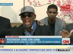 ~ This Was Very Weird!!! -- Drunk, Crazy Dennis Rodman Loses His Mind During CNN Interview About North Korea Trip