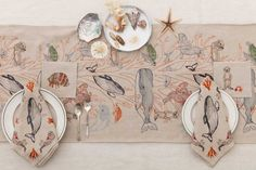 Coral & Tusk - Big Sur Collection Embroidered Table Linens