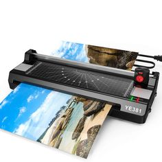 Laminator Machine for Thermal Laminating Machine for Home Office School Use with 50 Pouches, Paper Trimmer and Corner Rounder Paper Trimmer, Amazon Online, Important Documents, Pouches, Preserve, A3, Home Office, Business Cards, Presentation