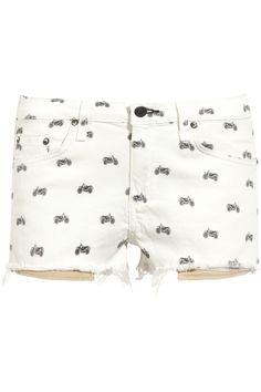 rag & bone JEAN|Mila printed stretch-denim shorts|NET-A-PORTER.COM