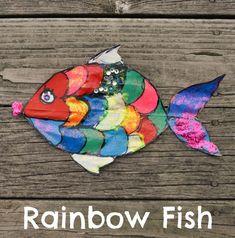 One Artsy Mama - http://www.oneartsymama.com/2014/08/rainbow-fish-craft-kids.html
