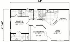 Little House on the Trailer Home: 24 x 2 Bed, 2 Bath, 1026 sq. (practically our apartment in Virginia but as a house) The Plan, How To Plan, Single Wide Mobile Homes, Small House Floor Plans, Barndominium Floor Plans, Apartment Plans, Bedroom House Plans, Tiny House Living, Cabin Plans