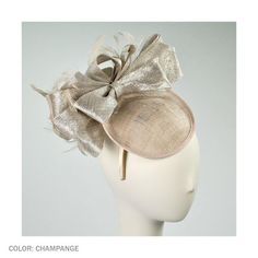 Giovannio by Emma B Beatrice Fascinator Headband (Champagne)