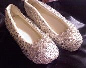 Wedding, Bridal, Ballet, Slipper, Flat, Quilted Satin, Crystals & OR Pearls  Custom Made to Order, Pure Comfort